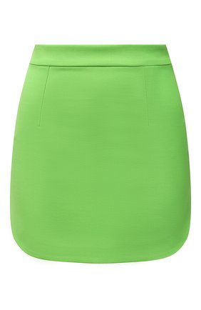 Женская шерстяная юбка THE ATTICO зеленого цвета, арт. 211WCS44/W009 | Фото 1