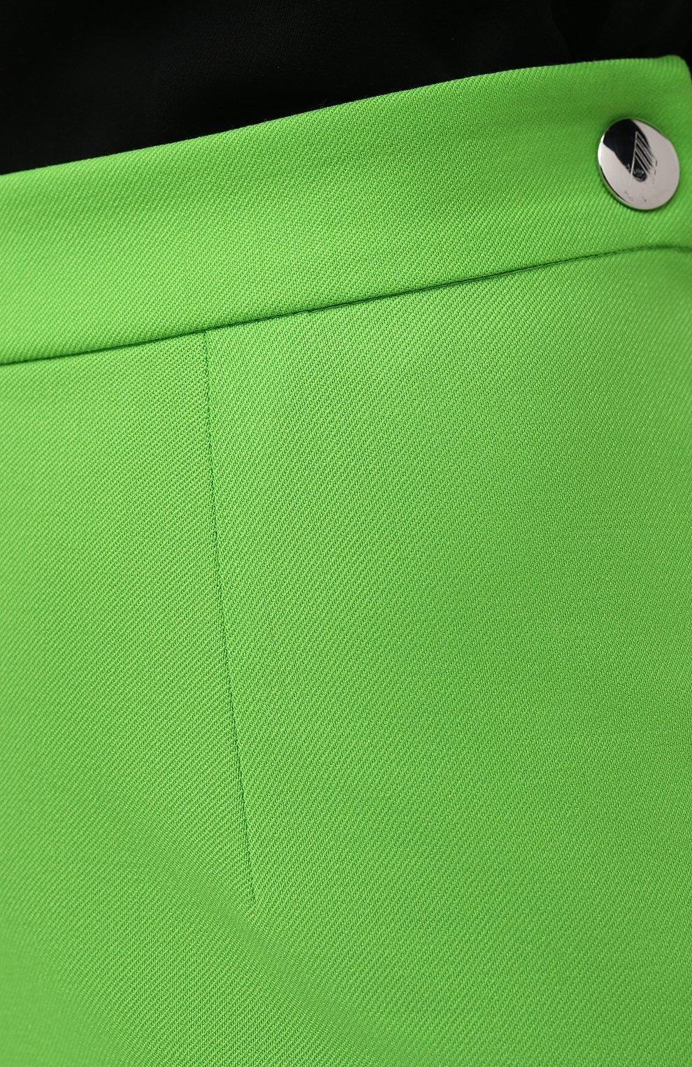 Женская шерстяная юбка THE ATTICO зеленого цвета, арт. 211WCS44/W009   Фото 5