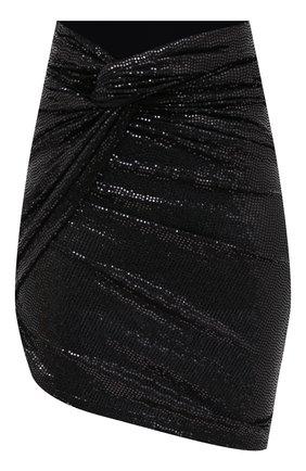 Женская юбка THE ATTICO черного цвета, арт. 211WCS42/J013 | Фото 1