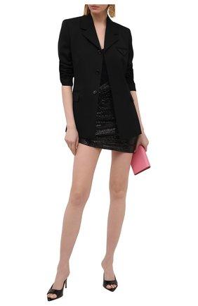 Женская юбка THE ATTICO черного цвета, арт. 211WCS42/J013 | Фото 2
