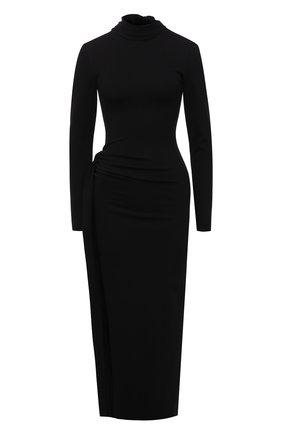 Женское платье из вискозы THE ATTICO черного цвета, арт. 211WCM13/JU12 | Фото 1