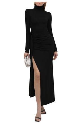 Женское платье из вискозы THE ATTICO черного цвета, арт. 211WCM13/JU12 | Фото 2