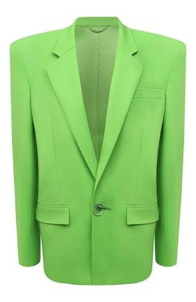 Женский шерстяной жакет THE ATTICO зеленого цвета, арт. 211WCG09/W009 | Фото 1