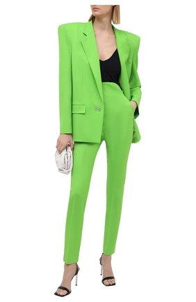 Женский шерстяной жакет THE ATTICO зеленого цвета, арт. 211WCG09/W009 | Фото 2
