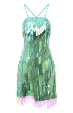Женское платье THE ATTICO зеленого цвета, арт. 211WCA60/H094 | Фото 1