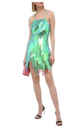 Женское платье THE ATTICO зеленого цвета, арт. 211WCA60/H094 | Фото 2