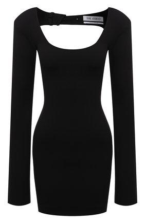 Женское платье из вискозы THE ATTICO черного цвета, арт. 211WCA51/JU12 | Фото 1