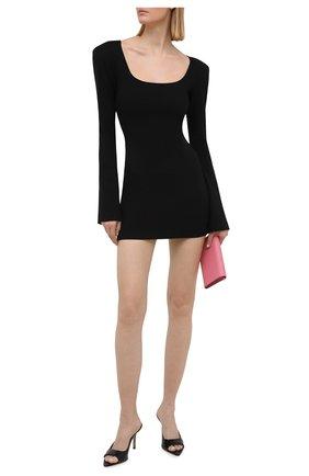 Женское платье из вискозы THE ATTICO черного цвета, арт. 211WCA51/JU12 | Фото 2