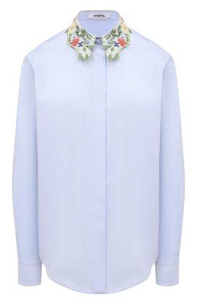 Женская хлопковая рубашка VIVETTA голубого цвета, арт. 21E V2M0/G141/0650 | Фото 1
