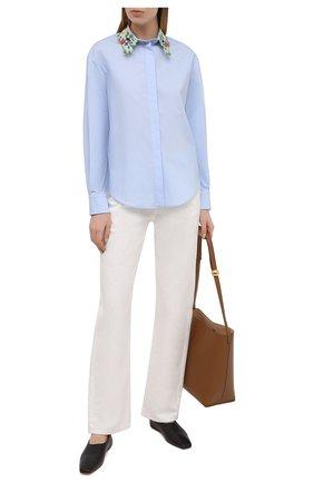 Женская хлопковая рубашка VIVETTA голубого цвета, арт. 21E V2M0/G141/0650 | Фото 2