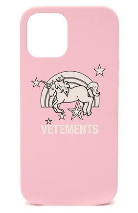 Чехол для iphone 12 pro max VETEMENTS розового цвета, арт. UE51SA270P 2471/M/BABY PINK NEXT PR0 MAX | Фото 1