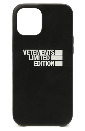 Чехол для iphone 12 pro max VETEMENTS черного цвета, арт. UE51SA170B 2471/M/BLACK NEXT PR0 MAX | Фото 1