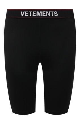 Женские шорты VETEMENTS черного цвета, арт. WE51PA600B 2605/BLACK | Фото 1