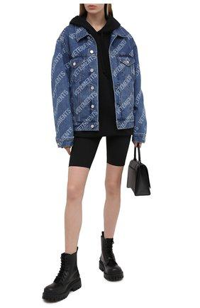 Женские шорты VETEMENTS черного цвета, арт. WE51PA600B 2605/BLACK | Фото 2