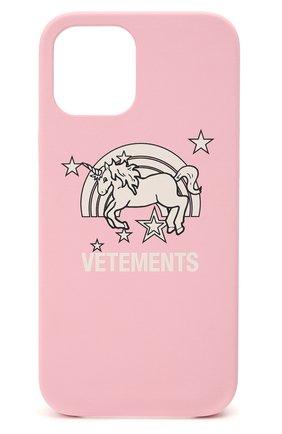 Чехол для iphone 12 pro max VETEMENTS розового цвета, арт. UE51SA270P 2471/W/BABY PINK NEXT PR0 MAX | Фото 1