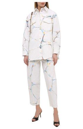Женская джинсовая куртка STELLA MCCARTNEY белого цвета, арт. 602921/S0H25 | Фото 2