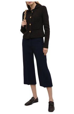 Женский шерстяные кюлоты LANVIN темно-синего цвета, арт. RW-TR511K-4793-P21 | Фото 2