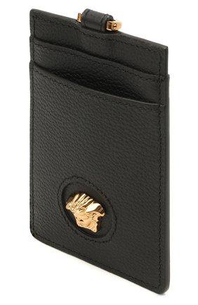 Женский кожаный футляр для кредитных карт la medusa VERSACE черного цвета, арт. DP3I100/DVIT5T | Фото 3