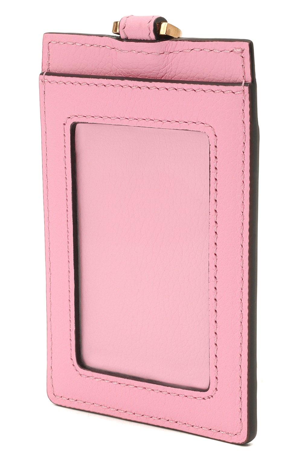 Женский кожаный футляр для кредитных карт la medusa VERSACE розового цвета, арт. DP3I100/DVIT5T | Фото 2