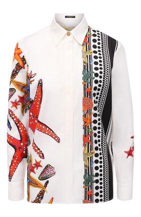 Женская хлопковая рубашка VERSACE разноцветного цвета, арт. A89275/1F01238 | Фото 1