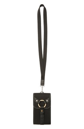 Текстильный чехол для iphone VERSACE черного цвета, арт. DP88431/DNY24 | Фото 4