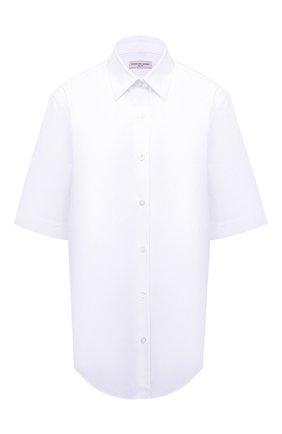 Женская хлопковая рубашка DRIES VAN NOTEN белого цвета, арт. 211-10781-2228 | Фото 1