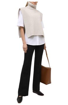 Женская хлопковая рубашка DRIES VAN NOTEN белого цвета, арт. 211-10781-2228 | Фото 2