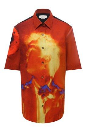 Женская хлопковая рубашка DRIES VAN NOTEN разноцветного цвета, арт. 211-10781-2065 | Фото 1
