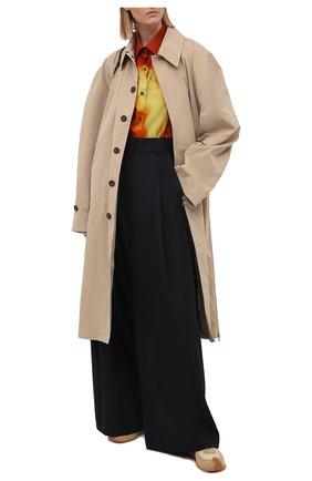 Женская хлопковая рубашка DRIES VAN NOTEN разноцветного цвета, арт. 211-10781-2065 | Фото 2