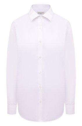 Женская хлопковая рубашка DRIES VAN NOTEN белого цвета, арт. 211-10779-2166 | Фото 1