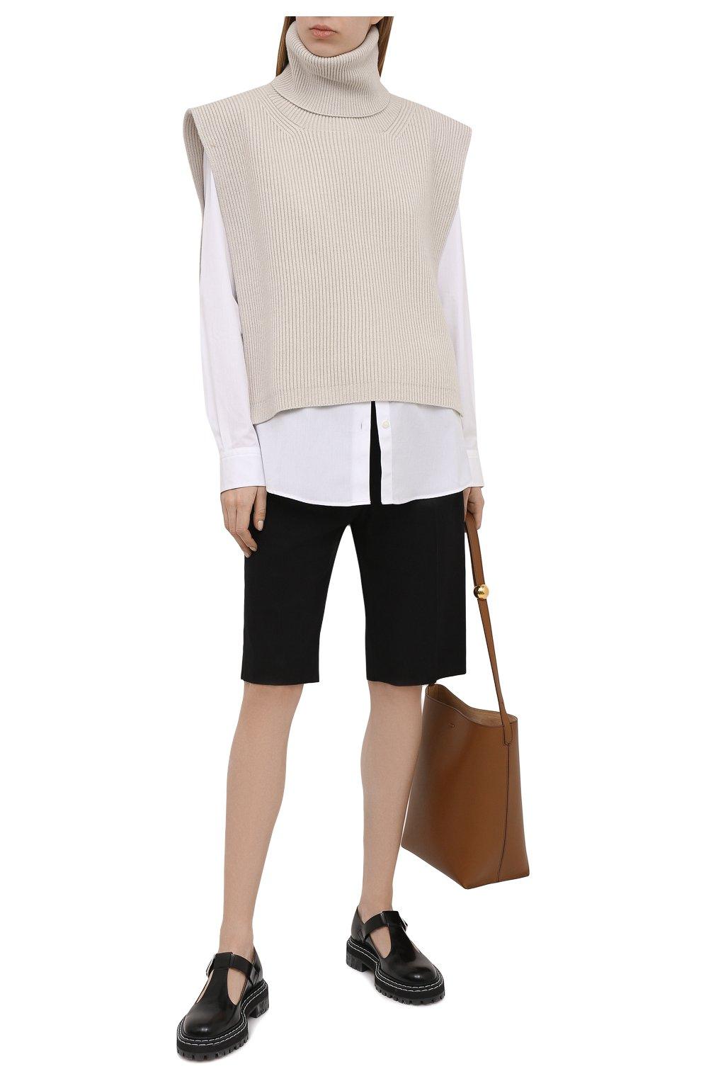 Женская хлопковая рубашка DRIES VAN NOTEN белого цвета, арт. 211-10779-2166 | Фото 2