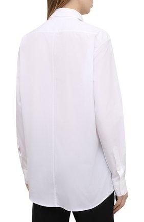 Женская хлопковая рубашка DRIES VAN NOTEN белого цвета, арт. 211-10779-2166 | Фото 4