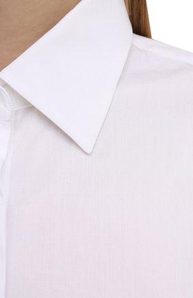 Женская хлопковая рубашка DRIES VAN NOTEN белого цвета, арт. 211-10779-2166 | Фото 5