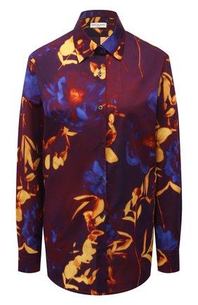 Женская хлопковая рубашка DRIES VAN NOTEN бордового цвета, арт. 211-10779-2084 | Фото 1