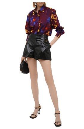 Женская хлопковая рубашка DRIES VAN NOTEN бордового цвета, арт. 211-10779-2084 | Фото 2