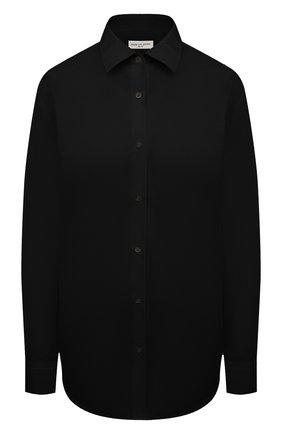 Женская хлопковая рубашка DRIES VAN NOTEN черного цвета, арт. 211-10779-2017 | Фото 1