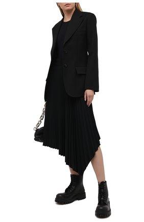 Женская плиссированная юбка JOSEPH черного цвета, арт. JF005241 | Фото 2