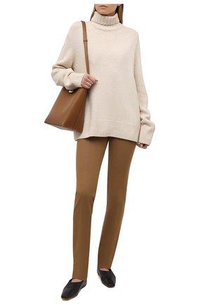 Женские брюки из вискозы и хлопка JOSEPH бежевого цвета, арт. JP001070 | Фото 2