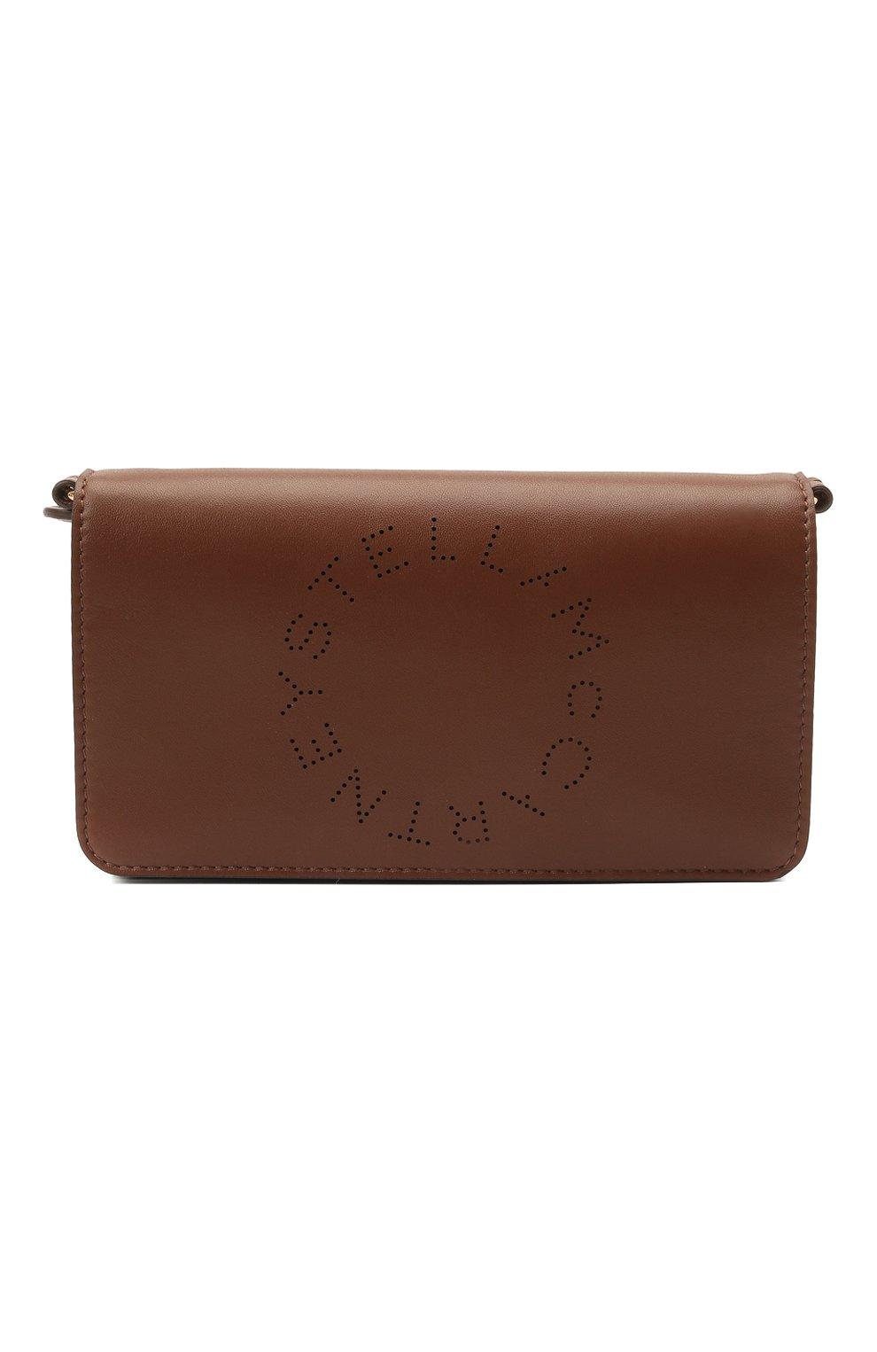 Женская сумка stella logo mini STELLA MCCARTNEY коричневого цвета, арт. 700134/W8542 | Фото 1