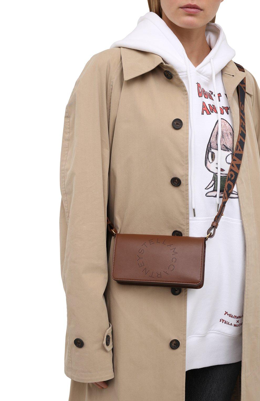 Женская сумка stella logo mini STELLA MCCARTNEY коричневого цвета, арт. 700134/W8542 | Фото 2