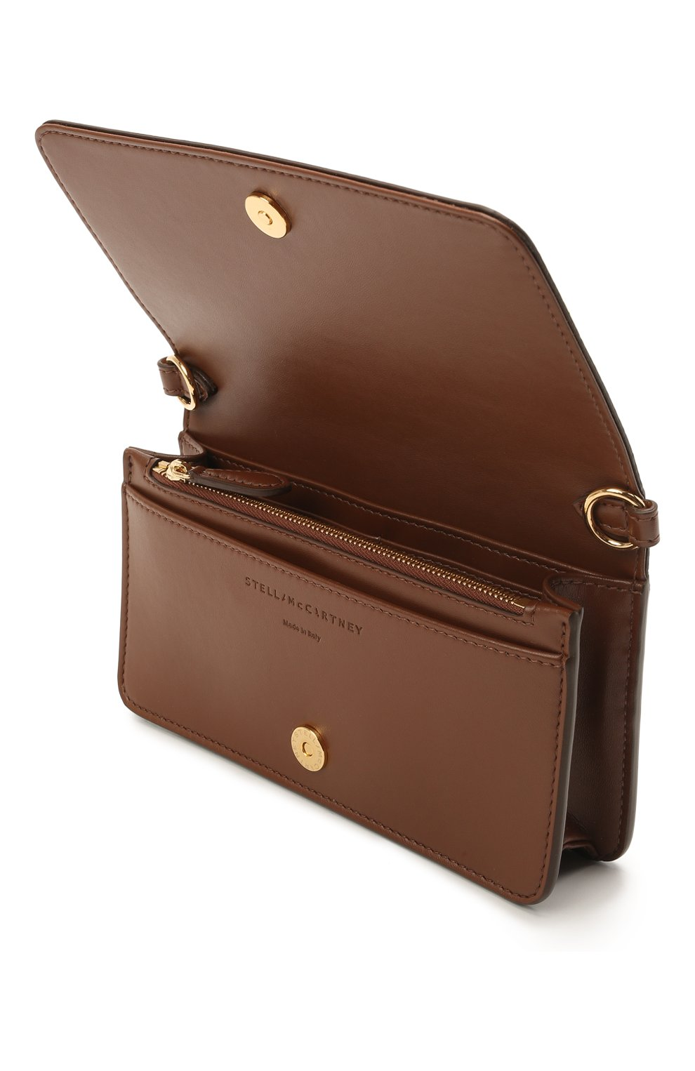 Женская сумка stella logo mini STELLA MCCARTNEY коричневого цвета, арт. 700134/W8542 | Фото 4