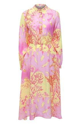 Женское шелковое платье STELLA MCCARTNEY разноцветного цвета, арт. 603102/SRA59 | Фото 1