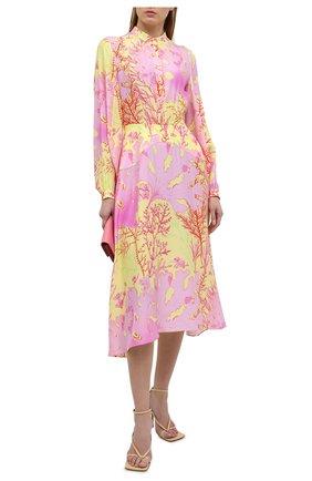Женское шелковое платье STELLA MCCARTNEY разноцветного цвета, арт. 603102/SRA59 | Фото 2