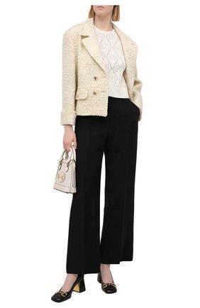 Женский шерстяной пуловер GUCCI белого цвета, арт. 650676/XKBL7 | Фото 2