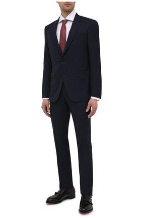 Мужской шерстяной костюм BOSS темно-синего цвета, арт. 50450298   Фото 1