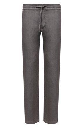 Мужские льняные брюки 120% LINO темно-серого цвета, арт. T0M299M/0253/S00 | Фото 1