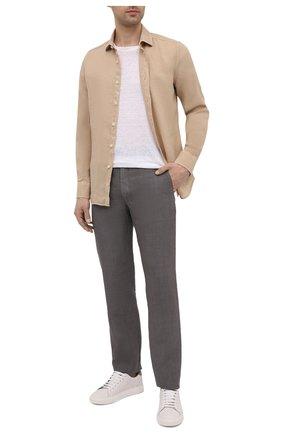 Мужские льняные брюки 120% LINO темно-серого цвета, арт. T0M299M/0253/S00 | Фото 2