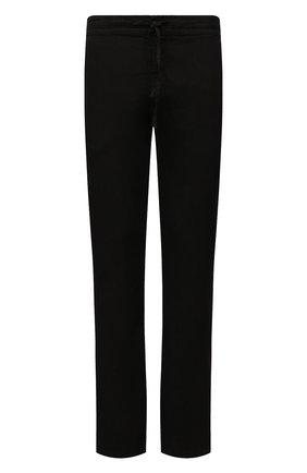 Мужские льняные брюки 120% LINO черного цвета, арт. T0M299M/0253/000 | Фото 1 (Длина (брюки, джинсы): Стандартные; Материал внешний: Лен; Случай: Повседневный; Стили: Кэжуэл)