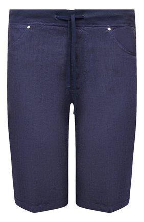 Мужские льняные шорты 120% LINO темно-синего цвета, арт. T0M2120/0253/S00 | Фото 1