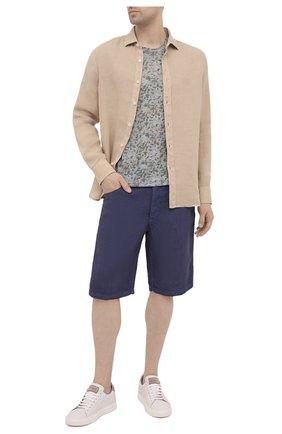 Мужские льняные шорты 120% LINO темно-синего цвета, арт. T0M2120/0253/S00 | Фото 2